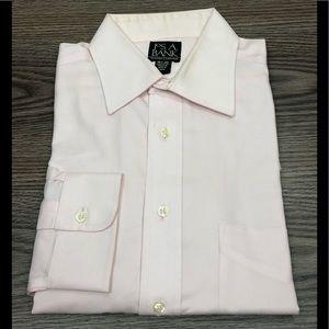 Jos A Bank Solid Pink Dress Shirt 15.5-34